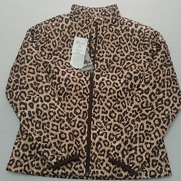 c85ac14c6284 Lands' End Jackets & Coats | Lands End Quilted Leopard Jacket Size ...